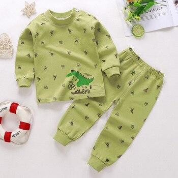 0-24M Baby Clothing Sets Autumn Baby boys Clothes Infant Cotton Girls Clothes 2pcs newborn baby Underwear Kids Clothes Set - S, 3M