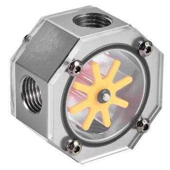 Indicador de flujo de refrigeración por agua G1/4 rosca de aleación de aluminio, Kit de herramientas DIY indicadora para PC, sistema de refrigeración por agua líquida