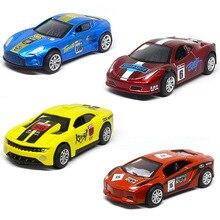 Pocket-Toy Simulation Racing-Model Pull Metal Mini Children's Car Puzzle Car-Alloy Creative-Decoration