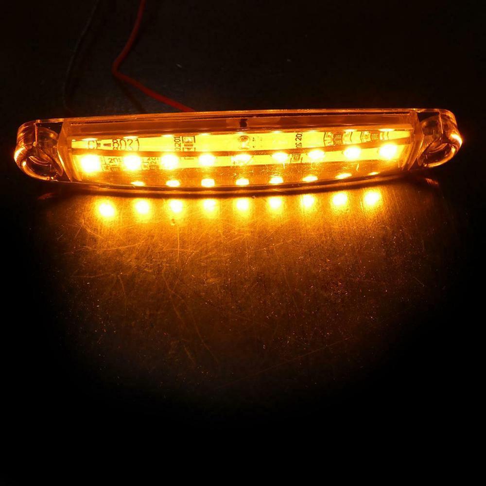 10 шт. автомобильный Led 12 в 24 в грузовик боковой габаритный индикатор светильник s пластик Янтарный поворотники задний светильник s номерной з...