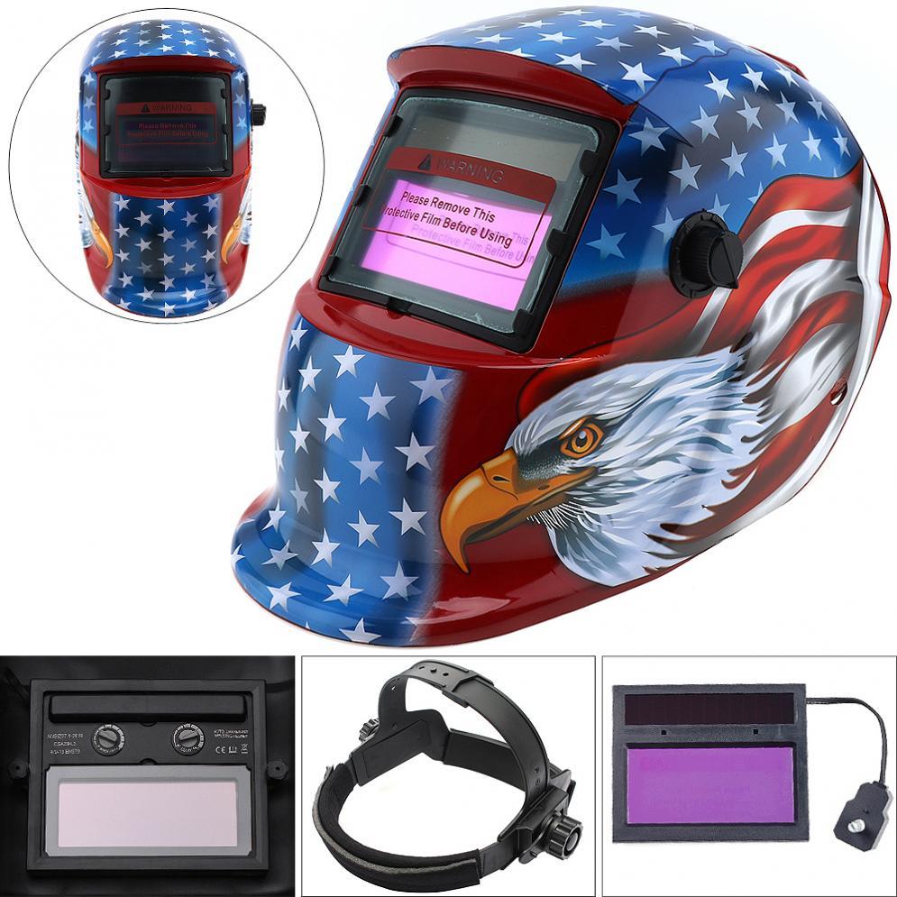 Eagle & Star Adjust Solar Auto Darkening TIG MIG  Grinding Welding Helmets / Face Mask / Electric Welding Mask / Weld Cap