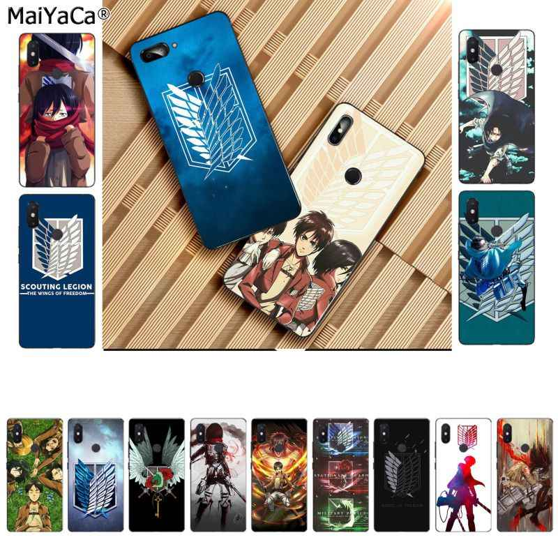 MaiYaCa Anime Japanese attack on Titan TPU Soft Silicone Black Phone Case for Xiaomi 8 9 se Redmi 6 pro 6A 4X 7 note 5 7 Cover