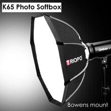 Triopo K65 65cm Portable Bowens Mount octogone extérieur parapluie Softbox pour Photo Studio stroboscope photographie boîte souple lampe vidéo