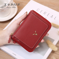 X.D.BOLO Women Wallet Female Coin Wallet Zipper Genuine Leather Mini Wallets for Woman Wallets and Purse Credit Card