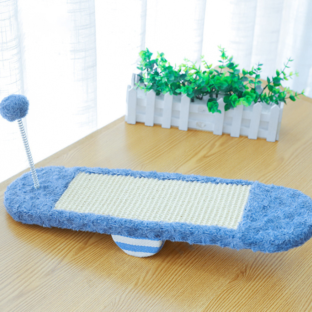 1pc Cat Toy Sisal Polyester Fiber Cat Scratch Board Seesaw Pet for Grinding Paws Pet Cat Toy for Fun Durable Exercise in Cat Toys from Home Garden