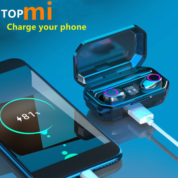 TWS Bluetooth 5.0 Earphones 3000mAh Charging Box Sports Waterproof Headphone 9D Stereo Earbuds Headsets power bank Headsets 2