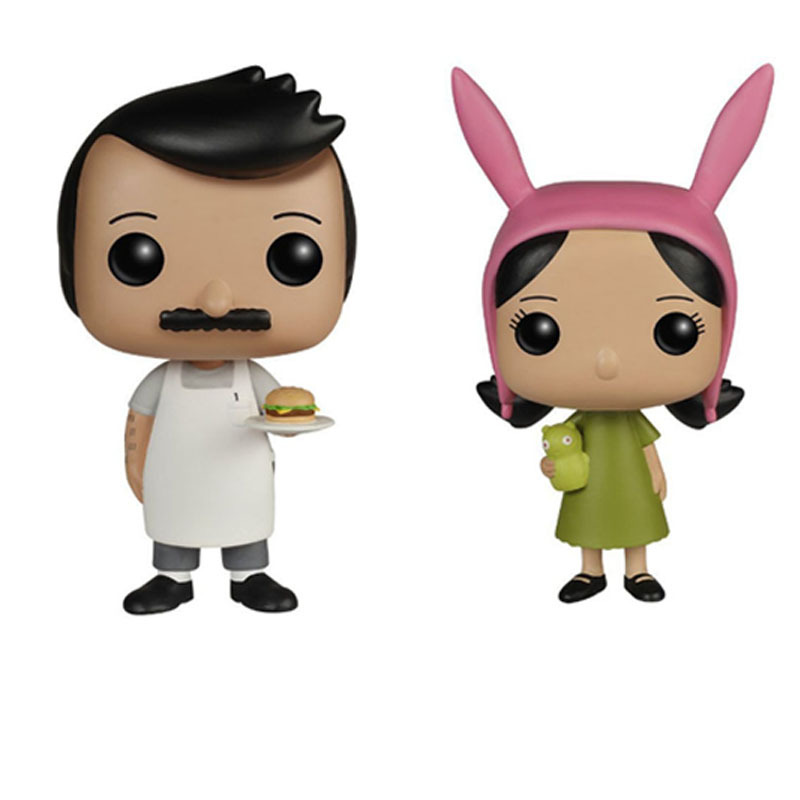america TV cartoon Bobs Burgers action figures BOB Louise Belcher model 10cm toys doll collection for kids gifts image