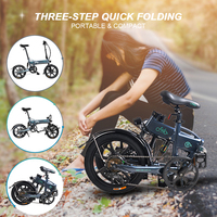 Eletric Bike 16 Inch Folding Power Assist Eletric Bicycle Moped E Bike Foot Pedal Electric Bike 250W Brushless Motor 36V 7.8AH