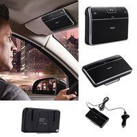 Car Kit Clip Hands free Stereo Wireless Bluetooth 4.0 Speakerphone Speaker
