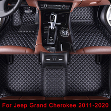 Car-Floor-Mats Custom Grand-Cherokee 5D Plaid for Jeep Embroidery