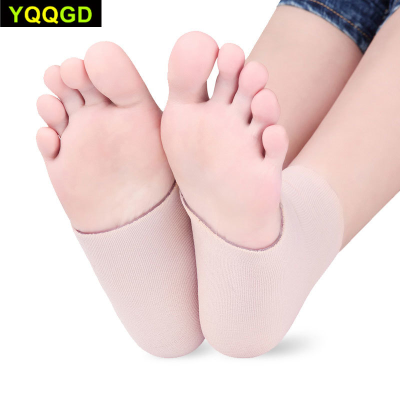 1Pair Ankle Gel Sleeves Padded Skate Sock Protection For Ankles Lace Bite Figure Skating, Hockey, Roller, Inline, Riding
