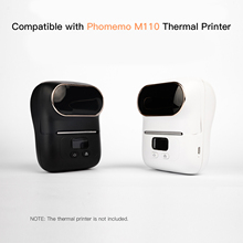 Label Paper Thermal Printing Paper 25*30mm+40mm 100sheets/roll Compatible with Phomemo M110 Thermal Printers