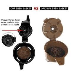 Kapsułki maszyny filtry do kawy stal nierdzewna wielokrotnego użytku akcesoria do kawy kompatybilny z Hamilton Beach FlexBrew Filtry do kawy Dom i ogród -