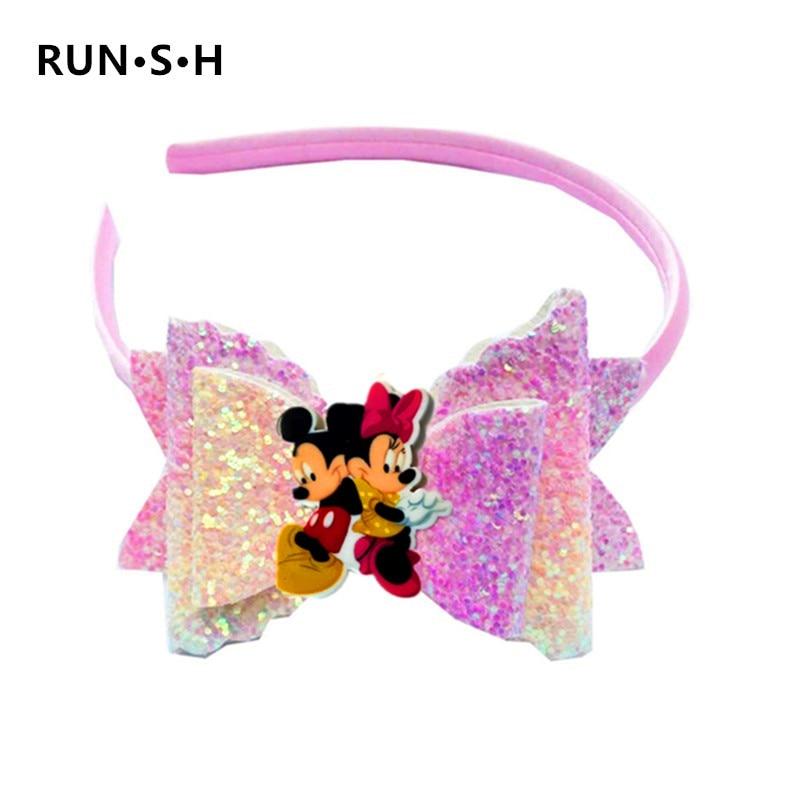 1Pcs Cute LOL Mickey Headband Baby Bow Hair Clip Baby Girls DIY LOL Hair Clips Barrettes Baby Headwear Female Hair Accessories