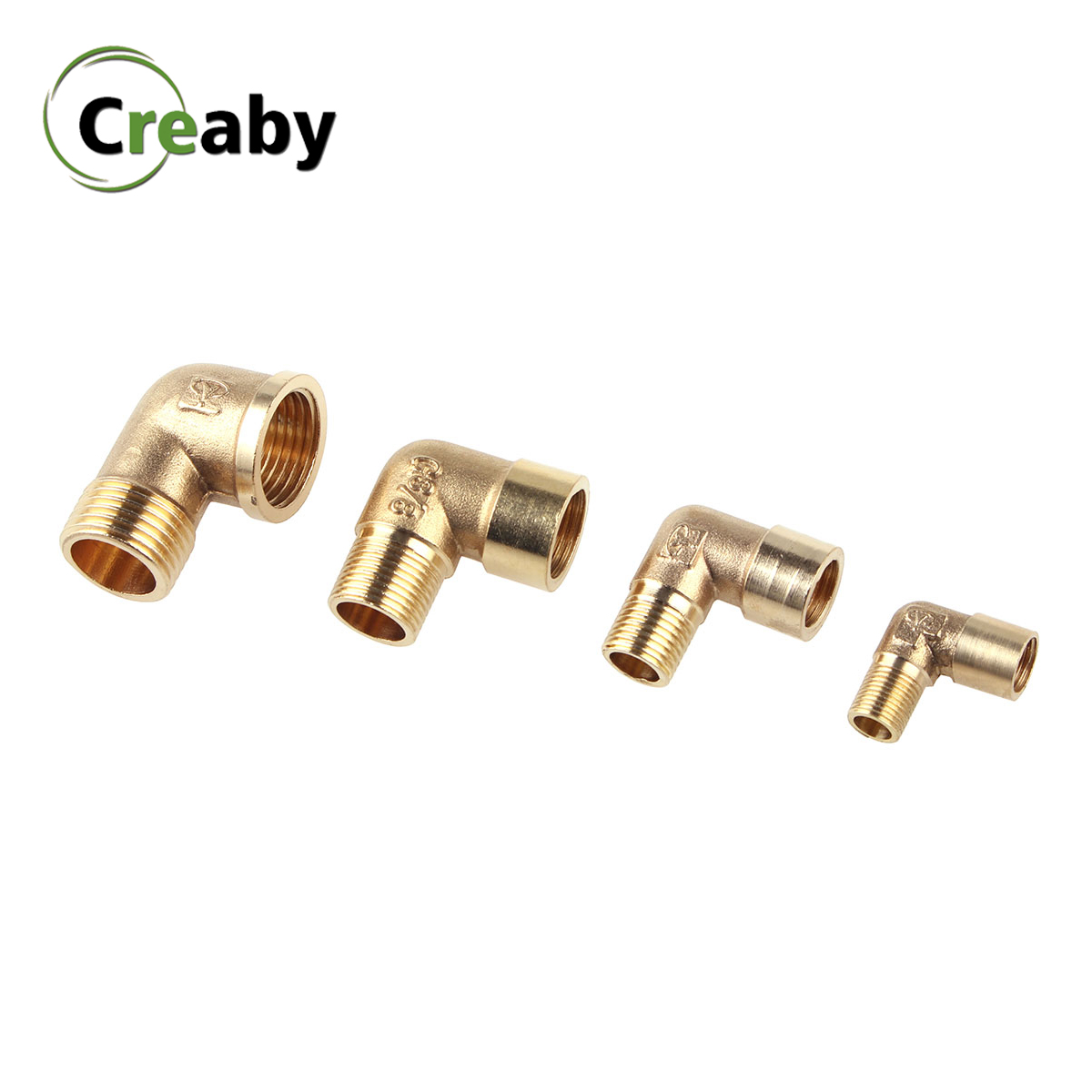 Female X Male Thread Elbow Pipe Fitting Brass Connector Coupler 90 Degree Copper Adapter For Water Fuel 1/8