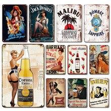 Classique whisky métal affiche étain signe Vintage irlande bière plaque de métal pour Bar Pub mur décor Plaques cuisine chambre panneaux muraux