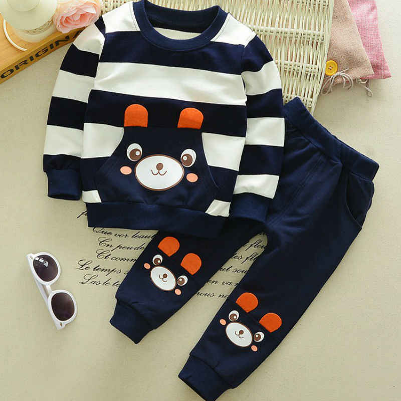 2018 Boys and girls' latest fashion, pure cotton, casual clothes, cartoon children's wear and sportswear