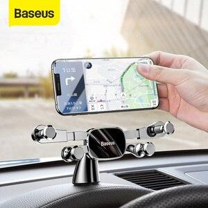 Image 1 - Baseus Auto Telefoon Houder Voor Iphone Samsung Gravity Mount Houder Stand Dashboard Auto Houder Voor Huawei Xiaomi Mobiele Telefoon Houder