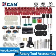 Xcan ferramenta abrasiva para dremel ferramenta rotativa lixar moagem hss lâmina de serra lixamento tambor lã polimento roda de madeira broca