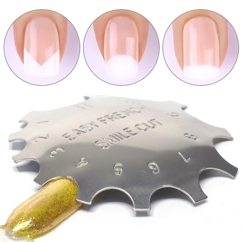 1pcs Cut Nail Stencil Cutter Trimmer Clipper Multi-size Files Poly Tips Gel Manicure Tool