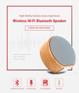 Image 4 - 木材 Altavoz Bluetooth スピーカーポータブルサブウーファーワイヤレスミニ Bluetooth サウンドボックスサポート AUX TF カード Usb iPhone アンドロイド