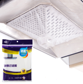 Kithcen Home Range Hood Anti-Oil Filter Oil-Proof Stickers Absorption Paper Lampblack Filtration Membrane Cleaning Purgation