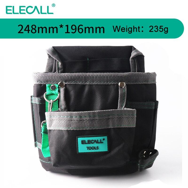 ELECALL Tool Bag Waist Bag Digital Multimeter Tool Kit Black Multi-purpose Tool Bag Nylon Pouch Oxford Cloth