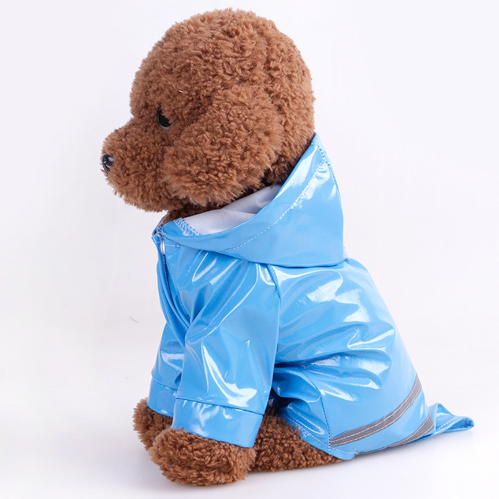 Outdoor Puppy Pet Rain Coat Waterproof Jackets PU Raincoat Apparel Clothes Dog PU Reflective Hooded Raincoat for Dogs Cats in Dog Raincoats from Home Garden