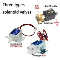6mm AC220V~240V  Micro Electric Solenoid Valve N/O Normally Open for Coffee machine valve water Flow Switch 6V12V24V Air Valve