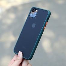N1986N чехол для телефона для iPhone 11 Pro X XR XS Max 7 8 Plus роскошный контрастный цвет полуночно-зеленый матовый Жесткий Чехол для iPhone 11