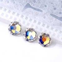 Glitter não hotfix strass para roupas flatback pedras de vidro cristal strass glitters para tecido diy decoração