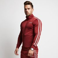 Muscle Brother New Style Men Sports Fitness Suit Fashion Running Hoodie Stand Collar Zip up Jacket