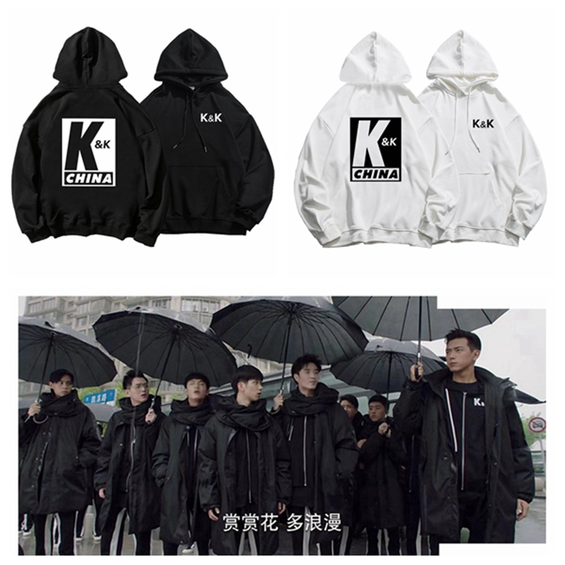 Go Go Squid! Li Xian Hu Yitian K&K Club Hoodies Sweatshirts Women Men Couple Loose Thick Hooded Tops Pullovers