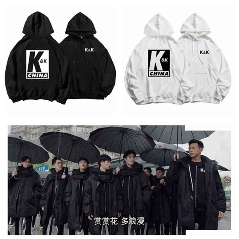 Go Go Squid! Li Xian Hu Yitian K&K Club Hoodies Sweatshirts Women Men Couple Loose Thick Hooded Tops Pullovers