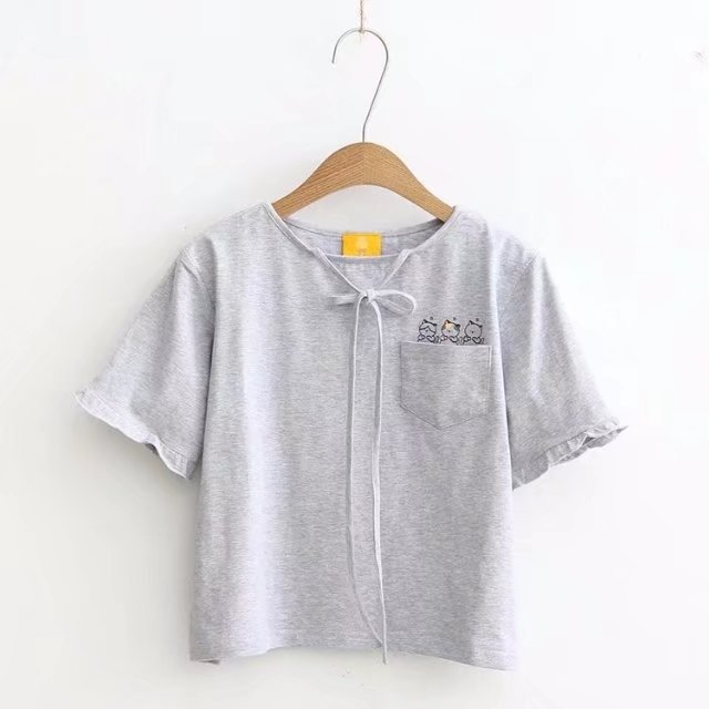 2018 New Summer Wear Round Neck Cottonleisure Self-cultivation Routinely Short Sleeves T-Shirts