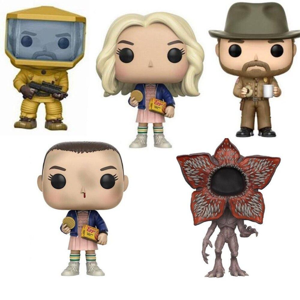 Stranger Things personaje 10cm figura de acción juguetes muñecas de vinilo para la colección
