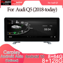 Android 10 carro multimídia dvd estéreo rádio player gps navegação carplay auto para audi q5 (2018-hoje) 2din