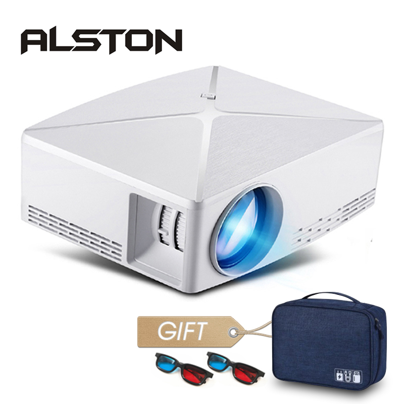 ALSTON HD MINI Projector C80/C80UP, 1280x720 Resolution, Android WIFI Proyector, LED Portable HD Beamer for Home Cinema-in LCD Projectors from Consumer Electronics