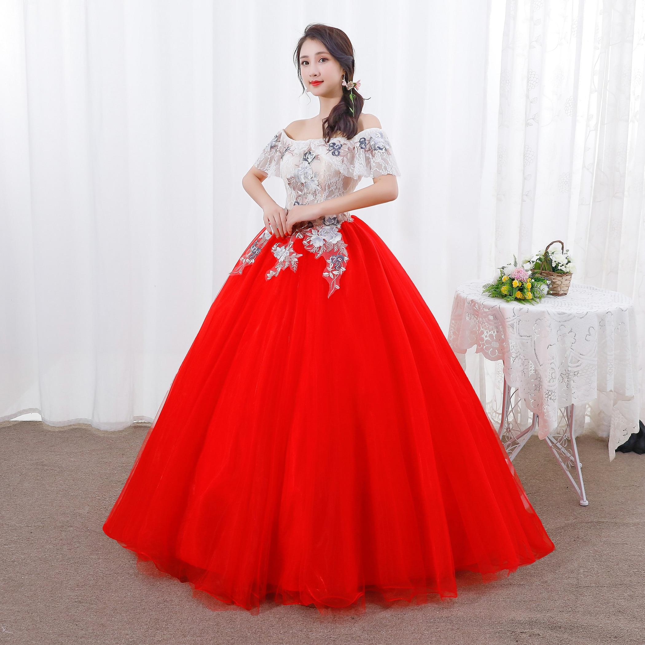 Off The Shoulder New Quinceanera Dresses Appliques Elegant Beautiful Vestidos De Party Prom Formal Floral Quinceanera-jurk