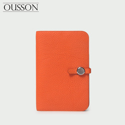 OUSSON lady leather passport bag wallet purse soft leather large capacity air ticket bag hand bag  High Quality