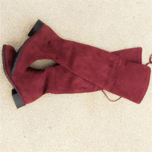 superstar new shoes woman winter botas over 2019 Autumn High Elastic Flat Bottom Overknee boots