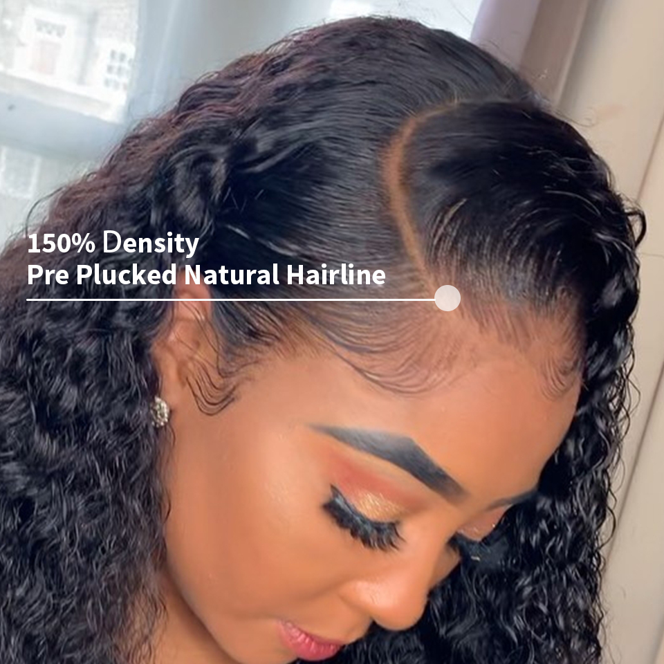 Sunper Queen Lace Front Human Hair Wigs M With Baby Hair Brazilian Remy Hair Short Curly Sunper Queen Lace Front Human Hair Wigs M With Baby Hair Brazilian Remy Hair Short Curly Bob Wigs For Women Pre-Plucked Wig