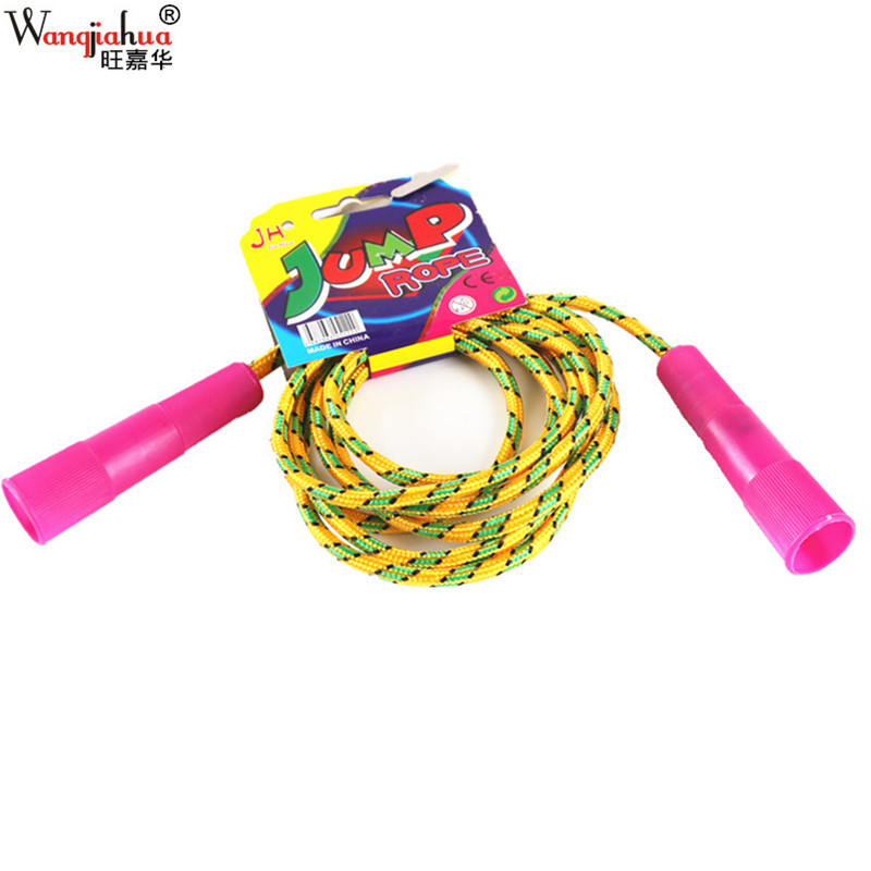 Hanging Card Jump Rope PVC Rubber Cotton Binder Jump Rope Children Students Sports Exercise Plastic Crystal Colorful Weaving Jum