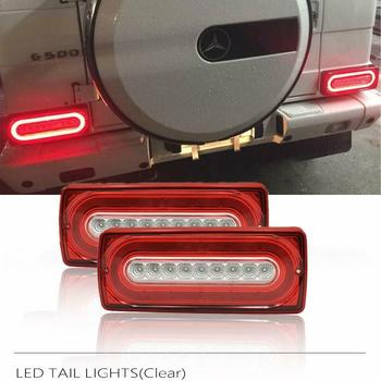 For Benz G-Class W463 G500 G550 G55 AMG 90-15 Assembly Kit LED Taillight Turn Signal Rear Fog Running Dynamic Led Tail Lamp led drl daytime running light for benz w463 g500 g55 g class amg g63 g65 driving light