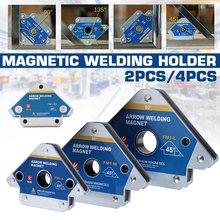2/4PCS Pfeil Starke Magnetische Schweißen Halter Clamp Winkel Löten Stellungs 45/90/135 Grad Hilfs Locator Werkzeuge