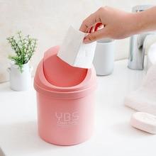 Creative Mini Desktop Trash Small Shake Lid Trash Trash Household Living Room Plastic Trash with Lid Garbage Can trash