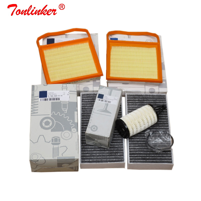 Cabin Filter+Air Filter+Oil Filter 4Pcs For Mercedes benz R CLASS W251 V251 2005 2019 R320 R350 R400 R500 4 matic Model Filter