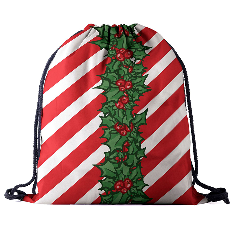 Drawstring Backpack Fashion Women 3D Printing Travel Softback Men Christmas Drawstring Bags Unisex Women's Shoulder Factory New