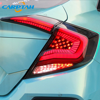 Car Styling Taillight Tail Lights For Honda Civic 2017 2018 2019 Rear Lamp DRL + Dynamic Turn Signal + Reverse + BrakeLED