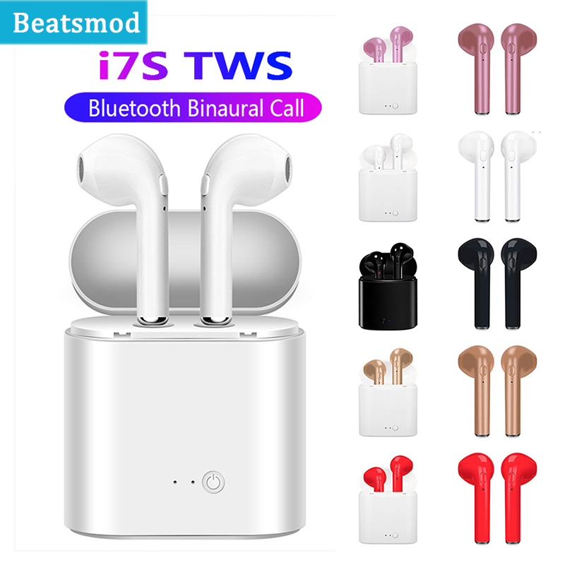 i7s TWS Wireless Earpiece Bluetooth Earphone I7 Sport Earbuds Headset Headphones For smart Phone iPhone Xiaomi Samsung Huawei LG(China)
